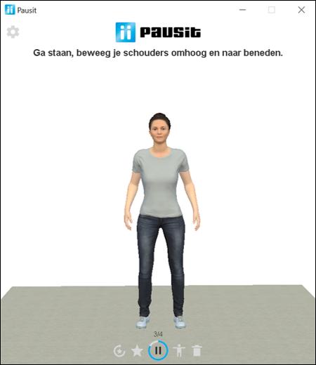 Pausit oefening bewegen